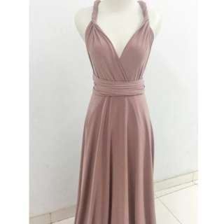 Dusty Pink Multiway Dress