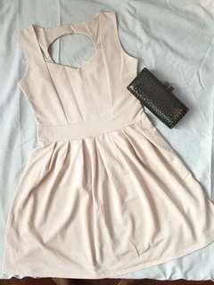 Cream beige dress