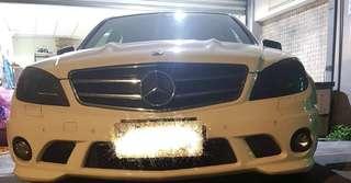 2010年式 Benz c63 p30 總代理 19吋鋁圈 四出x派