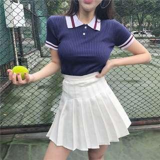 🚚 兩件套装針織上衣+短裙(可分開買)