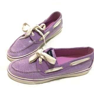 💯Sperry Top Sider Purple Sequin