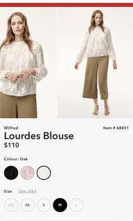 ARITZIA - Wilfred Lourdes Blouse - Oak Size Medium