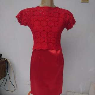 Handmade luxury red dress