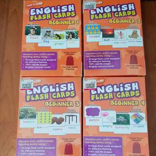 4 boxes English Flash Cards Wink to Learn Beginner Set Shichida Heguru Glen Doman