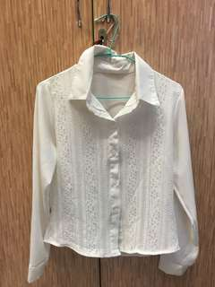 🚚 白色長袖襯衫