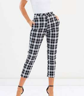 ATMOS & HERE Checkered Tartan Pants