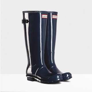 英國HUNTER長筒靛藍色雨靴/貨號118/尺寸齊全/英國代購