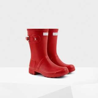 英國HUNTER中筒紅色雨靴/貨號2553/尺寸齊全/英國代購