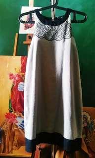Maldita: Beige Canvas Alter Neck Dress