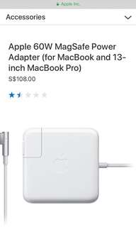Brand New 60W MagSafe Power Adapter/ Charger