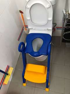 Toilet seat with steps!