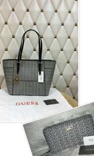 BNWT AUTHENTIC GUESS MINI TOTE AND WALLET SET
