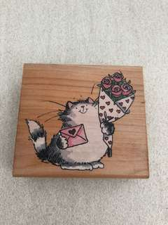Penny Black Woodmounted Stamp - Furry Love