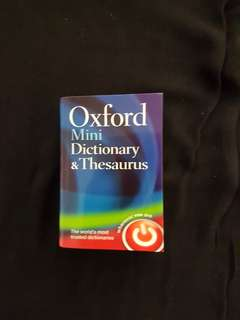 Oxford Thesaurus Dictionary/ Korean & Cantonese Phrasebk