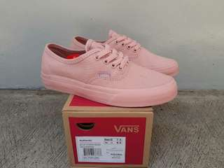 Vans authentic pink premium BNIB import