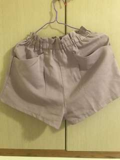 🚚 粉紫色雪紡短褲
