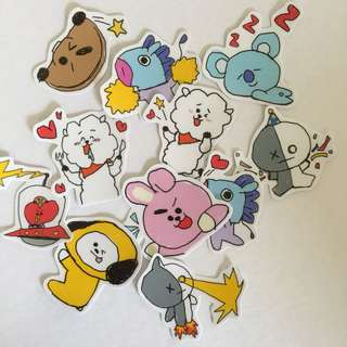 BTS BT21 HIGH QUALITY STICKERS
