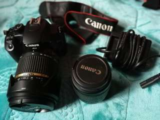 Canon DSLR 1000D with original kit + Tamron lens 18-270mm