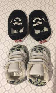 Infant shoes black, white and camouflage