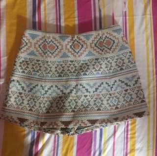 Zara Basic Aztec Skirt