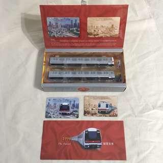 絕版地鐵20周年紀念車票及模型一套