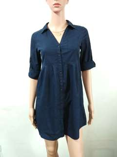 (XS) H&M navy blue top