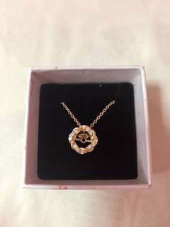 18K Gold Plated Kimberly Open Circle Pendant Necklace