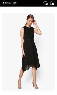 ZALORA premium handkerchief hem fit & flare dress