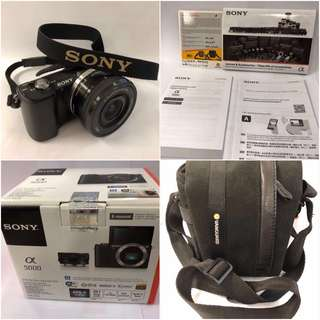 Sony A5000 Great Condition + Water Resistant Bag + Lengkap