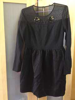 Black gown short dress from Lily, Metro