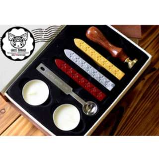 Wax stamp set with box