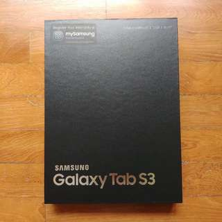 BNIB Samsung Galaxy Tab S3 WiFi