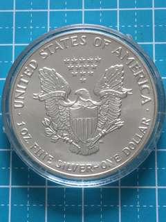 USA Liberty 1 OZ Fine Silver Coin One Dollar Year 1991, UNC