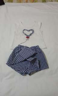 Terno blouse and short/skirt