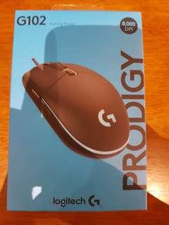 BNIB 2018 Logitech G102 Prodigy Mouse and G240 Mousepad