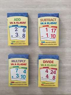 Math Flash Cards (Set of Add/Subtract/Multiply/Divide)