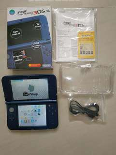 WTS : BS9 modded Nintendo New 3DS XL metallic blue mint with maxsoft warranty