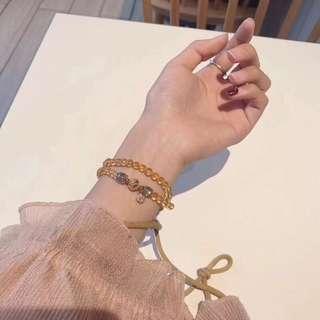 天然黃水晶手鏈 925銀配飾