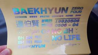 EXO BAEKHYUN鐳射貼紙