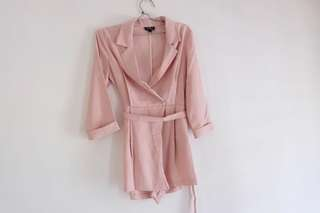 Dusty pink Jumpsuit Topshop