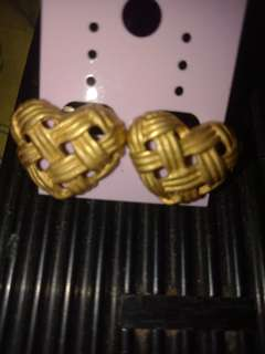Heart vintage Gold plated
