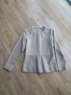 COS Nude long sleeves corporate  top small