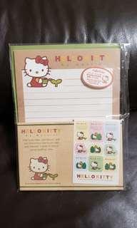 全新 Sanrio Hello Kitty Letter Set (信紙,信封及貼紙套裝) for sales in Japan only