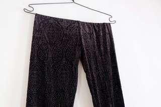 Velvet legging black topshop