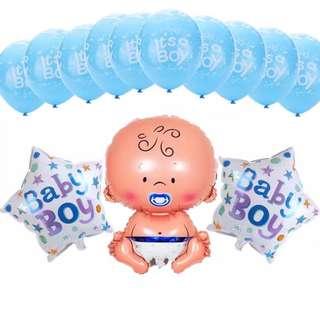 13pcs set Baby Boy Shower Balloon