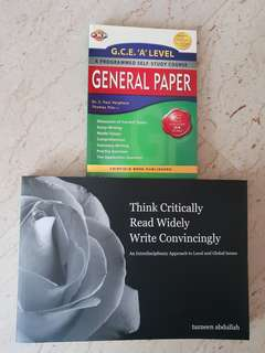 General Paper (GP) A levels books