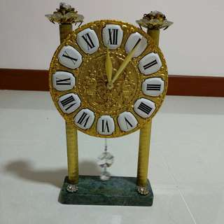 24K Gold Plated Clock