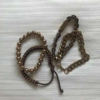Aldo gold bracelet set
