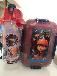 Water bottle and lunch box set