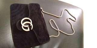 Gucci inspired chain bag velvet